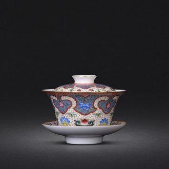 JingJun jingdezhen ceramic coarse after getting crack cup travel personal portable office coarse pottery