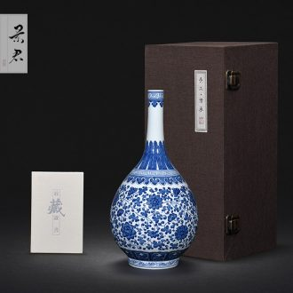 JingJun jingdezhen blue and white porcelain hand-painted pot of bearing dry plate of a pot of ground mat tea table with porcelain tea 1