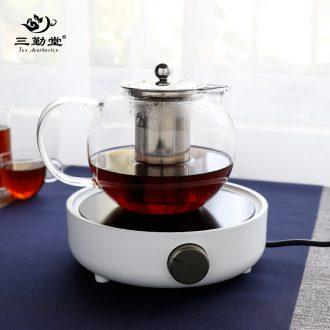 The three regular pane electric TaoLu tea stove jingdezhen ceramic tea set to boil tea kettle tea accessories S81016