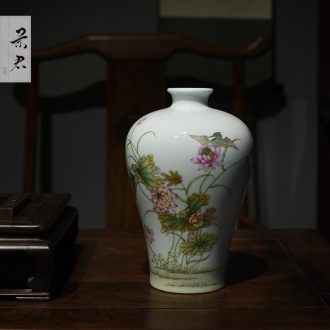 Jingdezhen ceramic porcelain plate restoring ancient ways sitting room adornment hand-painted flowers and birds painting porch hang a picture background wall murals restaurant