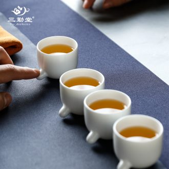Three frequently hall jingdezhen ceramic tea set tea tea cups TZS001 office cup caddy group
