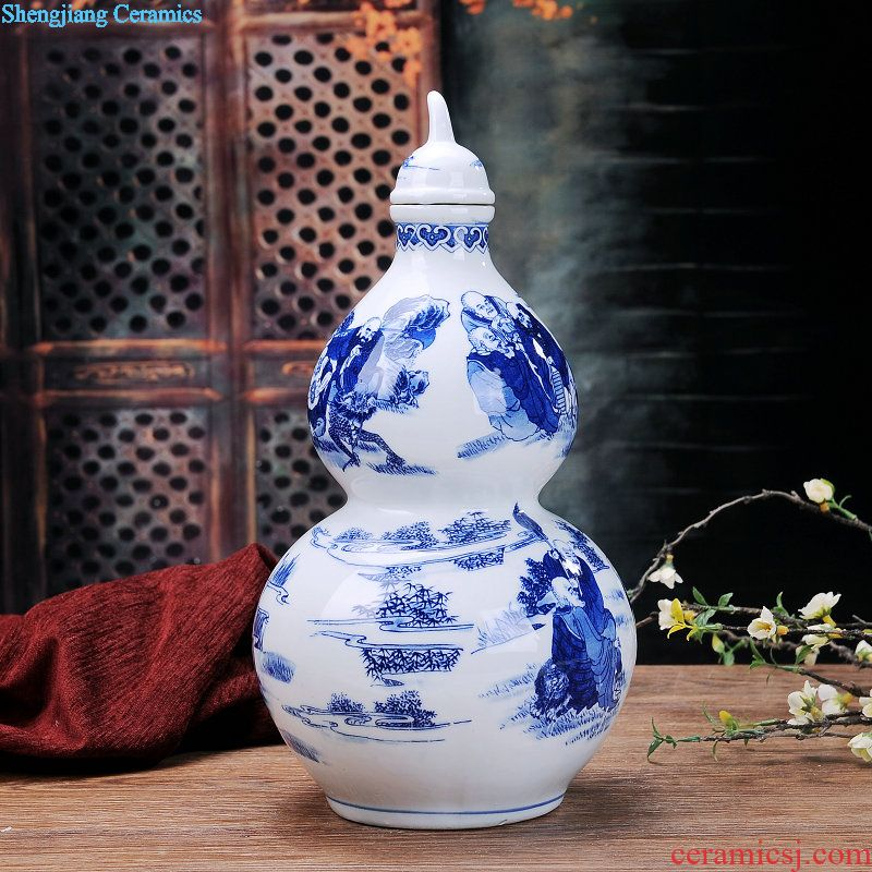 Jingdezhen Ceramic Bottle Decoration Ideas 1 Catty Three Catties 5 Jins Of Domestic Liquor Cans Sealing Vintage Wine Jars Buy Jingdezhen Porcelain And Ceramics,Blue Wall Living Room