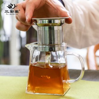 Three frequently kung fu tea cups Jingdezhen ceramic tea set master cup hand-painted lotus pumpkin sample tea cup S42105