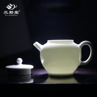 The three frequently colored enamel masters cup of jingdezhen tea service gold thread small single cup S42194 ceramic cups kung fu
