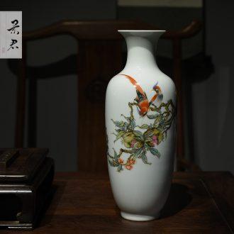 Jingdezhen hand-painted master mei bottle porcelain vase furnishing articles sitting room decoration as ceramic flower arranging flower arranging porcelain vase