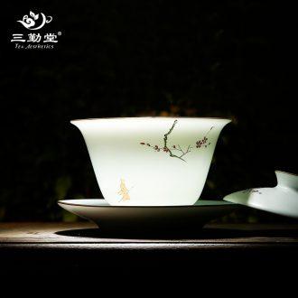 Three frequently hall your kiln hand grasp pot Jingdezhen ceramic tea set on the teapot can raise kunfu tea S24020 single pot