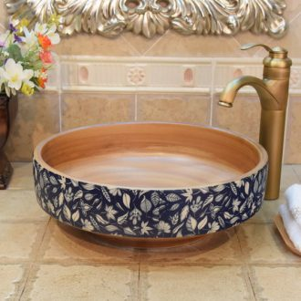 JingYuXuan jingdezhen ceramic lavatory basin art basin sink the stage basin ancient brown black lines