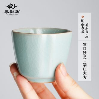 Three frequently hall large tea caddy large storage warehouse of jingdezhen ceramics POTS texture sealed cans S51044 by hand