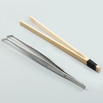 Is Yang celadon tea six gentleman bamboo wood ebony accessories tea art kung fu tea set clip ceramics