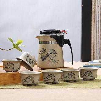 Is Yang large coarse pottery ceramic pu 'er tea pot pot brother wake receives your kiln tea packaging storage jar