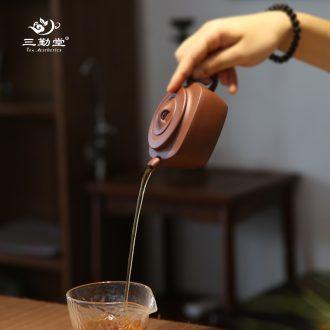 The three regular black pottery teapot metal glaze jingdezhen ceramic kung fu tea kettle boil tea tea S28020