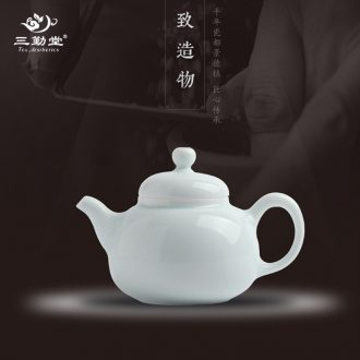 Three frequently hall side pot teapot Jingdezhen kung fu tea set filter household ceramic S21008 hot pot