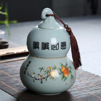 Is Yang violet arenaceous caddy coarse pottery jar ceramic awake large pu 'er tea hot cylinder gift boxes storage tanks