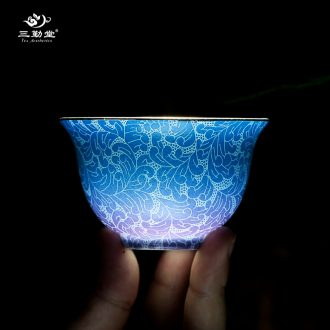 Three frequently hall official kiln glaze crack cup a pot of two cups of jingdezhen ceramic tea set TZS050 portable travel