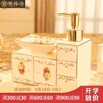 Vatican Sally's 2018 new European toilet bathroom ceramic soap box soap box creative hand washing liquid bottle