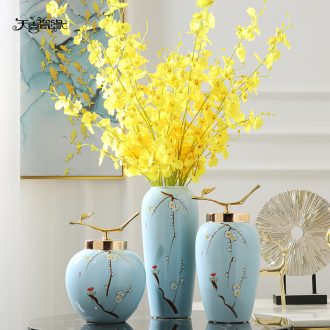 New Chinese style of jingdezhen ceramics hand-painted vases, flower arranging the sitting room porch tea table table household adornment furnishing articles