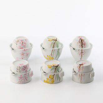 TaoXiChuan jingdezhen ceramic hand-painted crack cup portable travel a jug of a cup of tea pot set