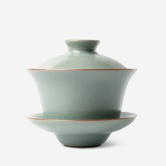 TaoXiChuan jingdezhen your kiln tureen open piece of authentic large tea bowl three cups vintage kung fu tea set