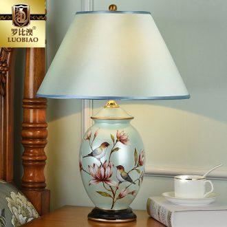 Robbie Australia Europe type desk lamp bedroom berth lamp creative American ceramic simple marriage room sitting room warm light