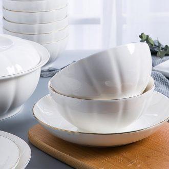 Ceramic tableware to eat pumpkin bowl good-looking web celebrity home plate rainbow noodle bowl large soup bowl bowl dish dish 10