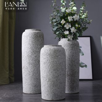 Ground vase large flower arrangement is contemporary and contracted sitting room Nordic decorative furnishing articles retro hotel jingdezhen ceramics