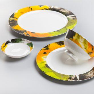 Cixin qiu - yun high-grade bone China tableware gift dishes chopsticks combination jingdezhen ceramic dishes suit American household