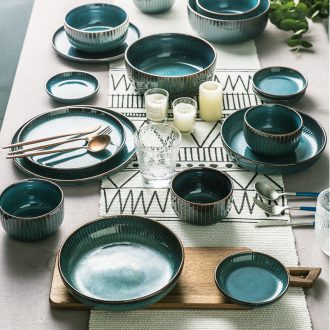 Million fine ceramics tableware contracted restoring ancient ways northern dishes dishes set good-looking household Japanese literary bowl chopsticks