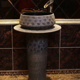JingYan retro art basin floor archaize ceramic lavabo lavatory the post industrial wind one basin
