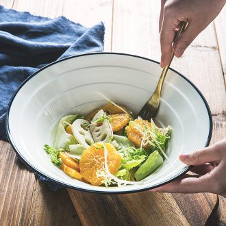 Pull a rainbow noodle bowl hat to large bowl of noodles soup bowl beef noodles wide rainbow noodle bowl ceramics horn bowl domestic large commercial restaurant
