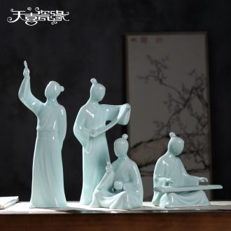 Jingdezhen creative zen furnishing articles of new Chinese style household soft adornment office sitting room porch furnishing articles of handicraft