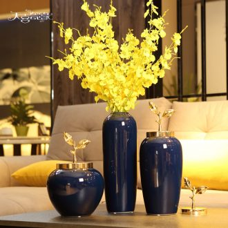 JingDeXin town of Chinese ceramic vase wine TV ark place the sitting room dining-room flower arranging porcelain home decoration