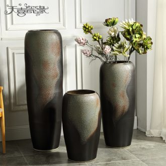 Jingdezhen ceramic floor big vase furnishing articles of modern European American club hotel in the living room window flower POTS