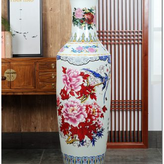 Jingdezhen ceramics powder enamel of large vase hotel opening shop celebrates the flower arrangement sitting room adornment is placed