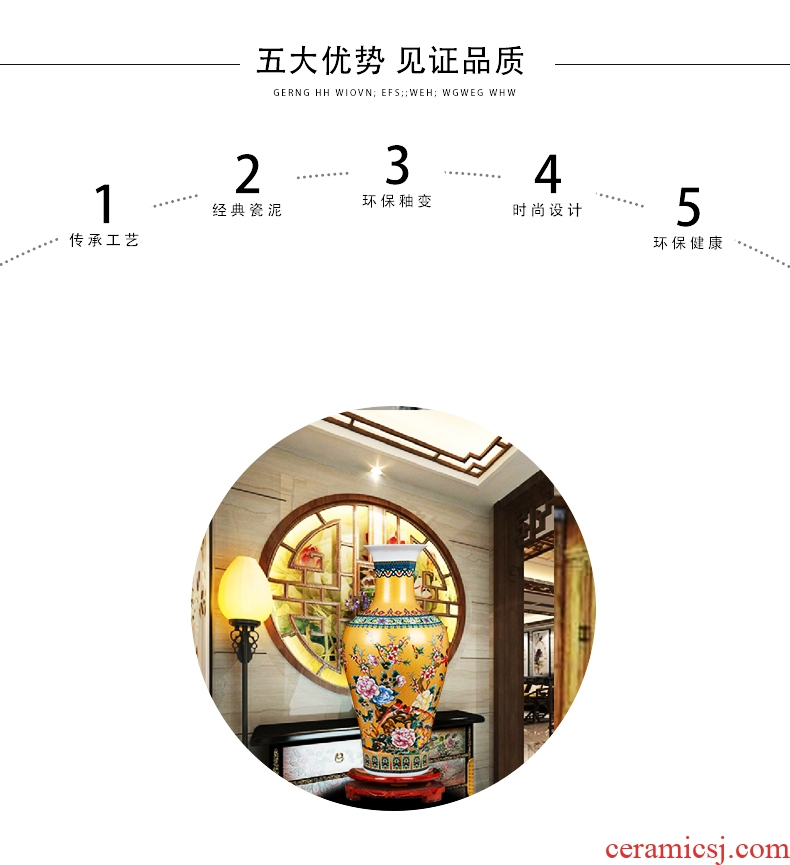 Jingdezhen ceramics of large vases, flower arranging hotel opening gifts home sitting room adornment is placed