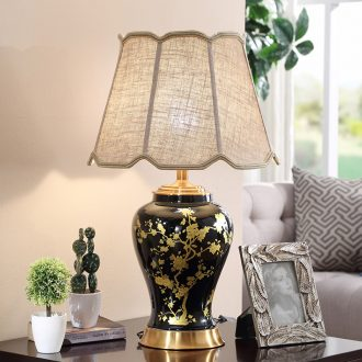 Ceramic lamp sitting room bedroom berth lamp contracted creative large sitting room decorate restoring ancient ways the study adjustable light lamp