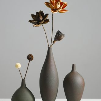 Creative ceramic vase zen dried flowers flower arrangement furnishing articles of Chinese style restoring ancient ways is the sitting room porch TV ark home decoration
