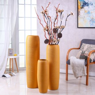 Nordic landing simulation flower vase suit contemporary and contracted sitting room large jingdezhen ceramic dry flower arranging flowers is placed