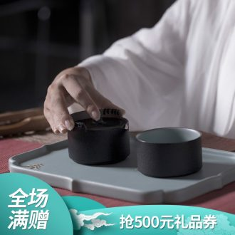 Thousands of thousand hall simple ceramic kung fu tea tea is a pot of a cup with cover office cup champions cup 05