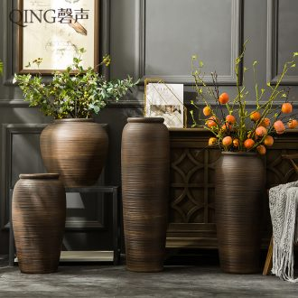 Jingdezhen ceramic vase furnishing articles of large sitting room hotel restaurant Chinese flower arranging dried flowers porcelain clay restoring ancient ways