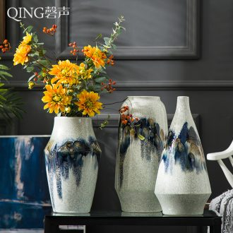 Vase furnishing articles creative example room living room table contracted style home decoration ceramic flower arranging dried flowers floral organ