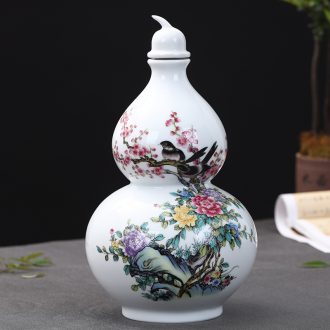 Hu jun jingdezhen ceramic creative 5 jins of 5 jins deacnter home wine jar empty wine bottle decoration furnishing articles