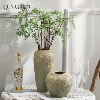 Jingdezhen ceramic vases, contemporary and contracted sitting room adornment desktop dried flower arranging flowers is placed thick ceramics by hand