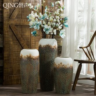 Ceramic vase furnishing articles sitting room decoration ideas dried flower arranging flowers Chinese style restoring ancient ways of large vase household ornaments