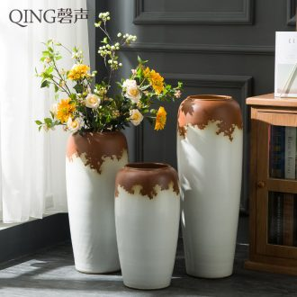 Jingdezhen ceramic vase of large sitting room villa flower arranging dried flower adornment furnishing articles contemporary and contracted handmade porcelain