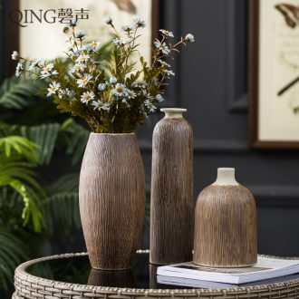 Vase furnishing articles sitting room of contemporary and contracted flower arranging dried flower decoration creative home decor ceramic pottery by hand