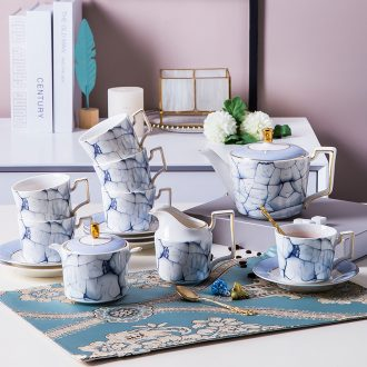 Fiji trent european-style bone China coffee set tea service ceramic cup with a wedding gift gift boxes in the afternoon