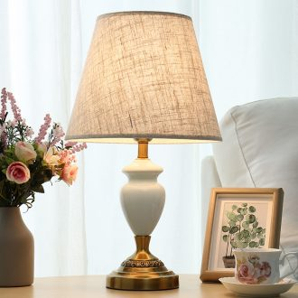 American lamp is contracted and contemporary ceramic desk lamp of bedroom the head of a bed warm and romantic sitting room study marriage adjustable light decoration