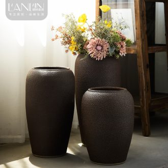 Jingdezhen ceramic vase landing sitting room dry flower arranging flowers large POTS restoring ancient ways the hotel porch decoration furnishing articles