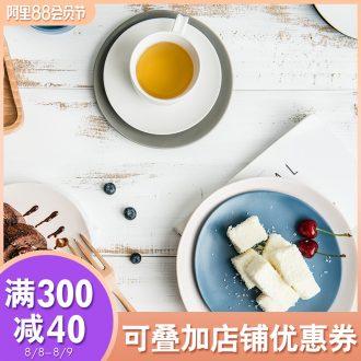 Ijarl million jia home European matte porcelain dessert dish contracted creative side dish plate tableware Ceylon island