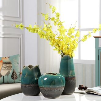 Jingdezhen ceramics vases, contemporary and contracted household soft outfit creative furnishing articles flower arranging the sitting room porch wine accessories